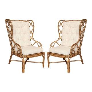 Gabby Watson Chairs With Custom Schumacher Cushions - A Pair