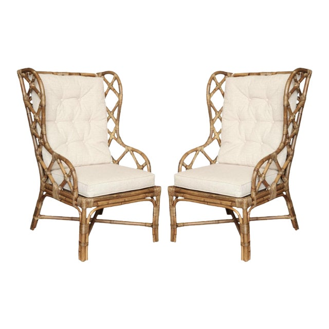 Gabby Watson Chairs With Custom Schumacher Cushions - A Pair For Sale