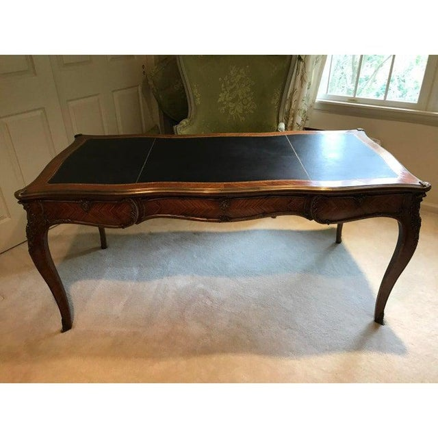 Louis XV Style Kingwood Veneer and Brass Mounted Writing Desk For Sale - Image 12 of 12