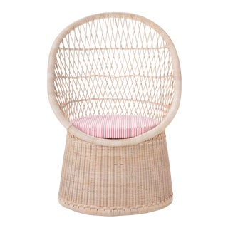 Vizcaya Occasional Chair W/ Coral Stripe Cushion For Sale