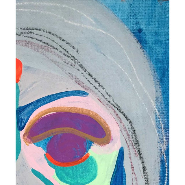 """Early 21st Century Contemporary Abstract Portrait Painting """"Witness This"""" For Sale - Image 5 of 8"""