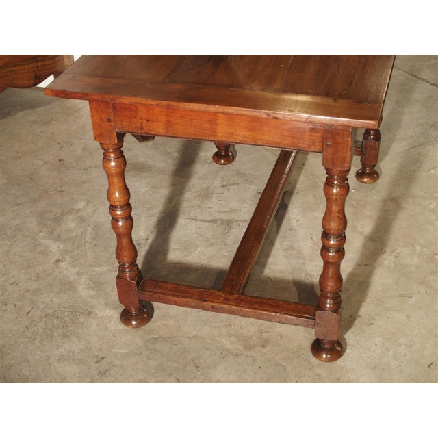 Wood Antique Cherry and Walnut Wood Side Table, 18th Century For Sale - Image 7 of 12