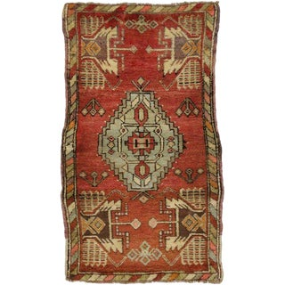 20th Century Turkish Oushak Rug - 2' X 3'5""
