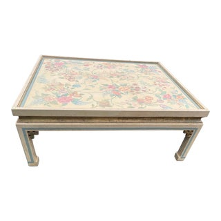 Vintage Hand Painted Gold Gilt Coffee Table For Sale