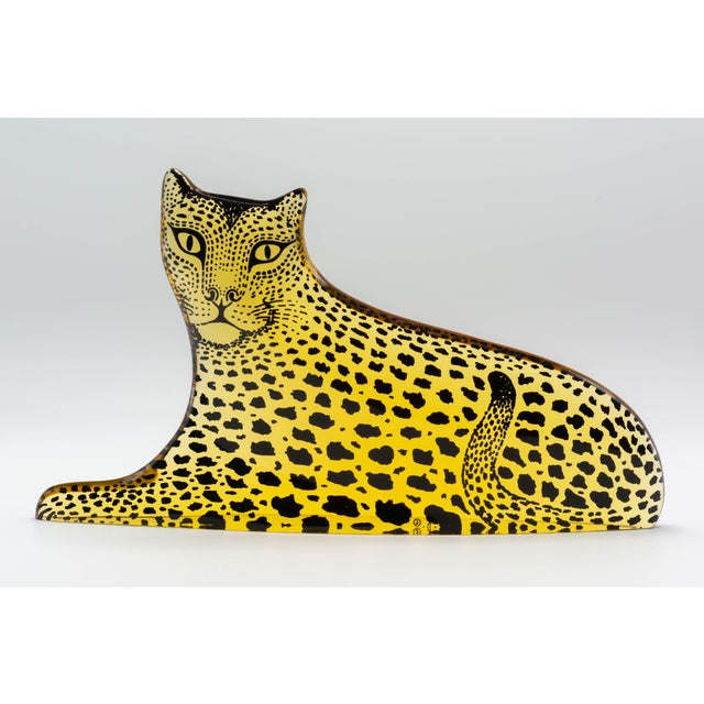 Plastic Op Art Palatnik Lucite Leopard Sculpture For Sale - Image 7 of 7