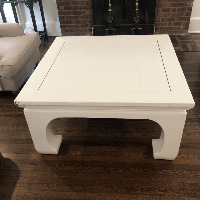 James Mont Chinoiserie Lacquered Coffee Table For Sale - Image 4 of 4