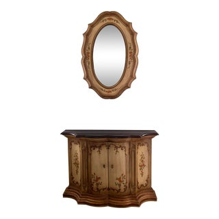 1970s Traditional Drexel Heritage Et Cetera Console Table & Mirror For Sale