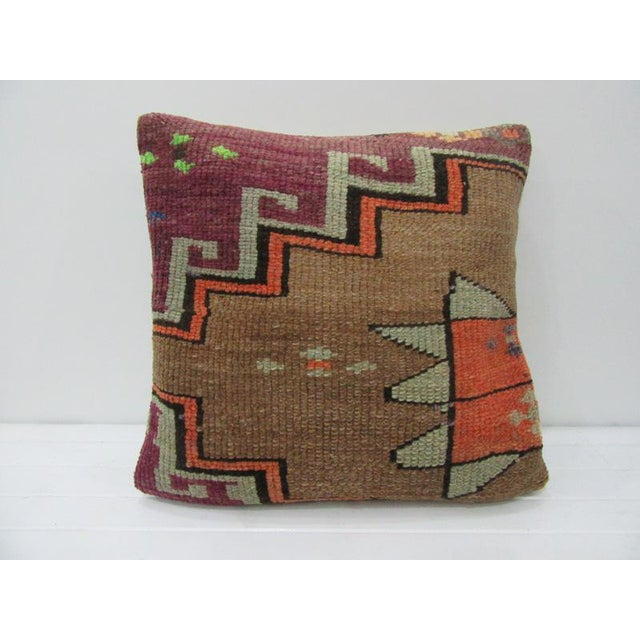 how to use decorative pillows turkish vintage kilim purple   brown decorative pillow chairish how to use throw pillows on a bed turkish vintage kilim purple   brown