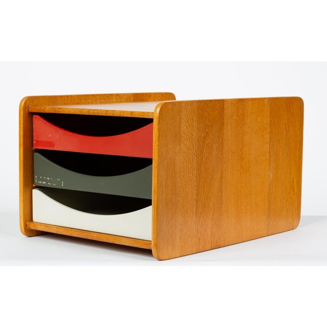 Oak Desk Organizer With Painted Drawers by Børge Mogensen for Karl Andersson For Sale - Image 12 of 12