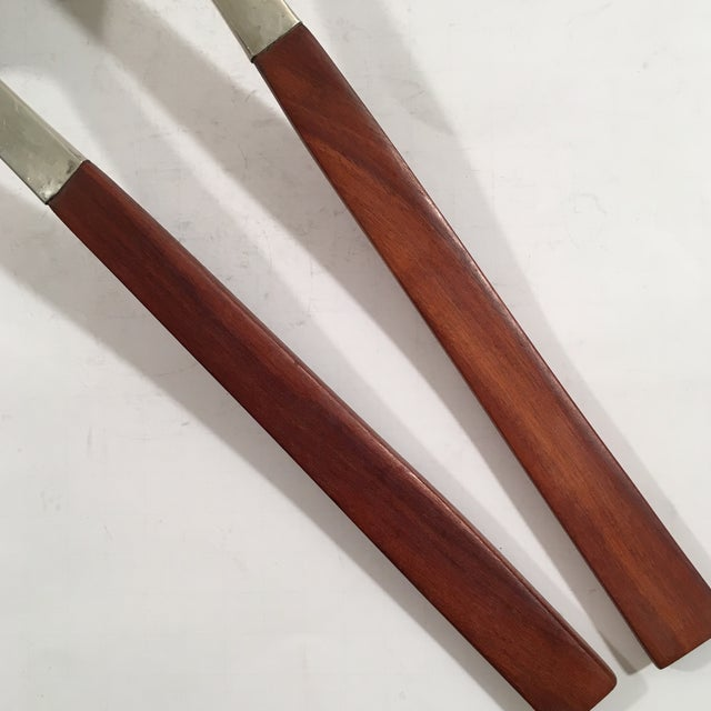 Hammered Sterling and Rosewood Handle Serving Set - Image 6 of 7