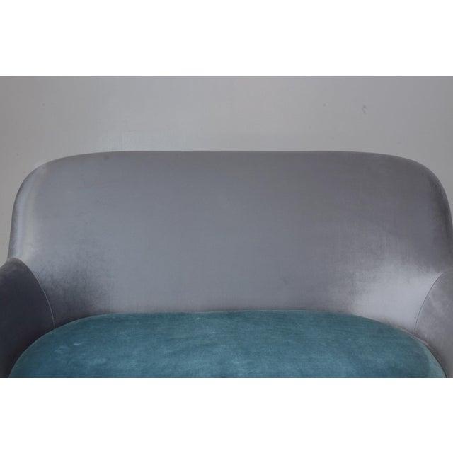 Italian Midcentury Velvet Sofa Set by ISA Bergamo, 1950s For Sale - Image 6 of 13