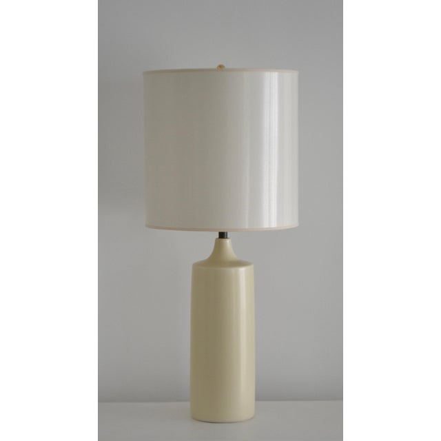 Striking Mid-Century glazed ceramic bottle form table lamp by Lotte and Gunnar Bostlund, circa 1960s -1970s. This stunning...