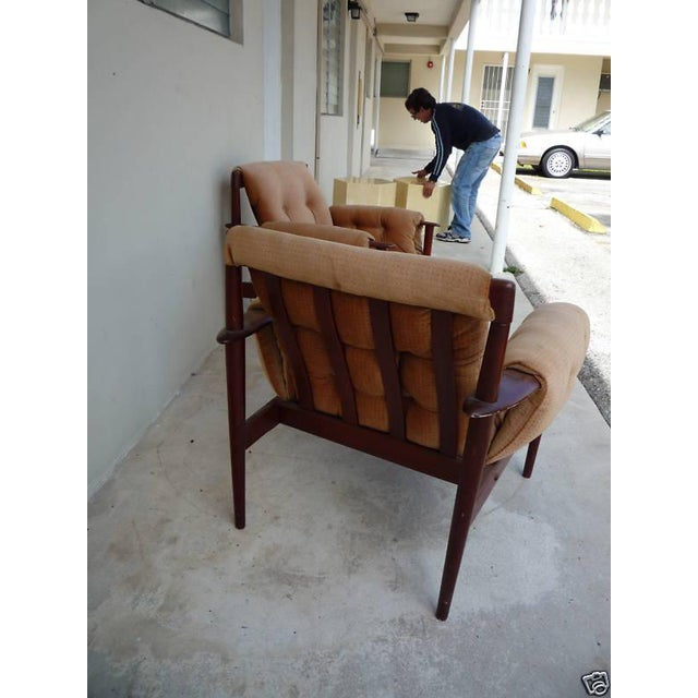 1950's Vintage Greta Jalk & Poul Jeppesen Chairs- A Pair For Sale In Miami - Image 6 of 11