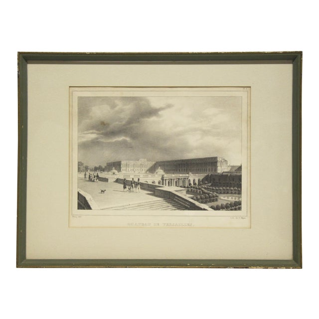 Framed Versailles Lithograph Print For Sale