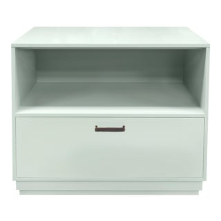 Minimalistic Maple Filing Cabinet From Garden Street in Ocean For Sale