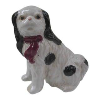 Vintage Ceramic Cavalier King Charles Puppy Figurine For Sale