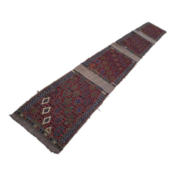 1970s Vintage Turkish Kilim Runner Rug - 1′9″ × 13′4″ For Sale