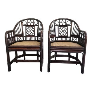 Brighton Pavilion Chippendale Regency Bamboo Chairs - A Pair