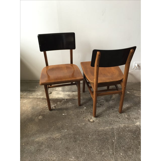 Vintage School House Chairs - A Pair - Image 3 of 4