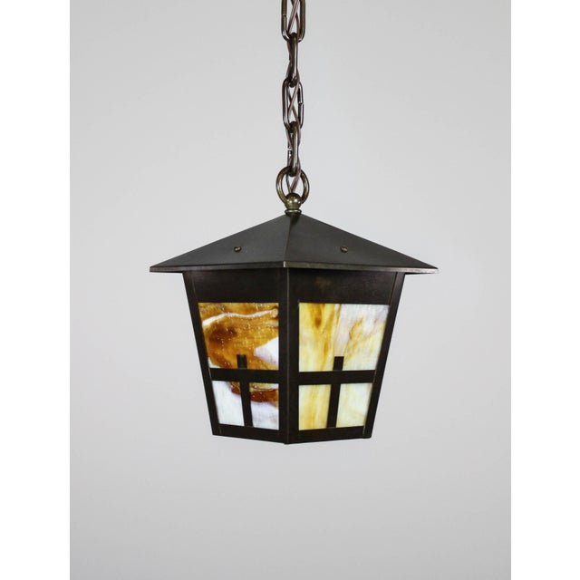 Arts & Crafts Mission Lantern Pendant Fixture - Image 6 of 6