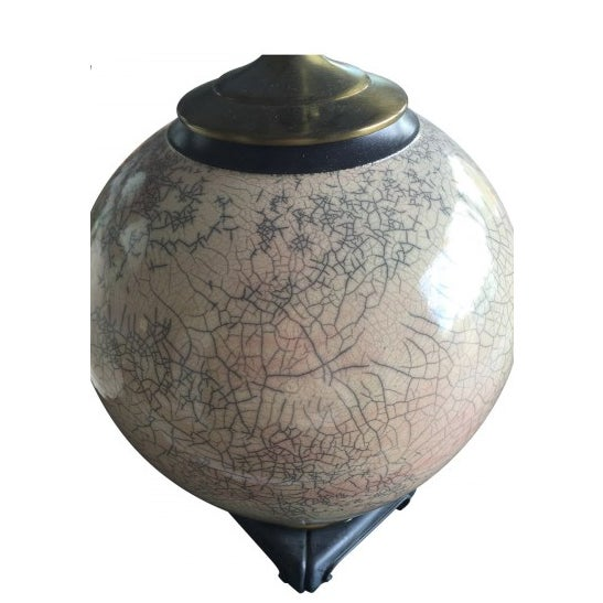 Asian Style Crackle Glaze Table Lamps - A Pair - Image 3 of 3