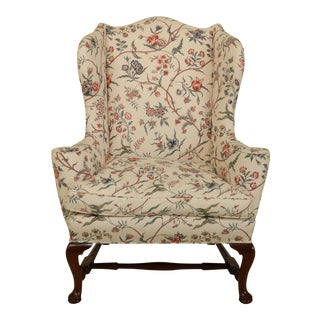 Kittinger Colonial Williamsburg Mahogany Wing Chair For Sale