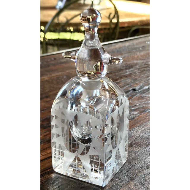 Mid-Century Modern Boda Crystal Perfume Bottle by Erik Hogland For Sale - Image 3 of 5