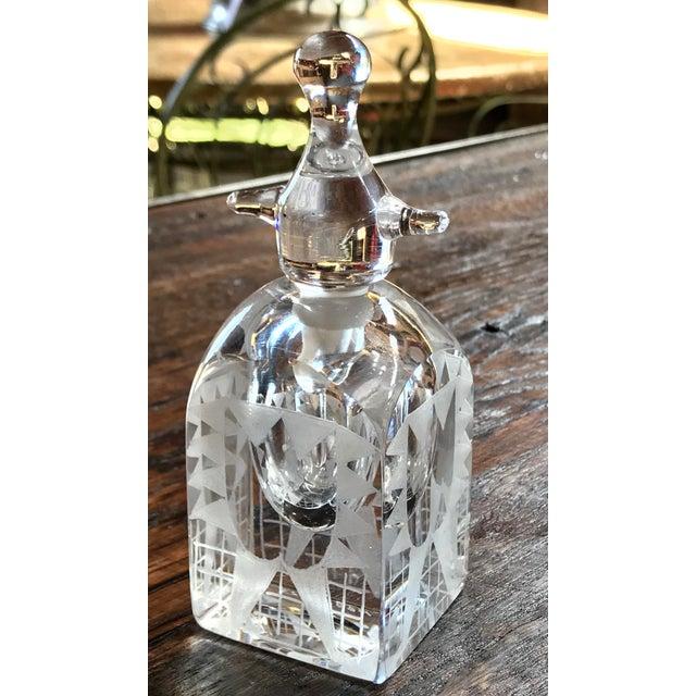 Art Deco Kosta Boda Crystal Perfume Bottle by Erik Hogland For Sale - Image 3 of 5