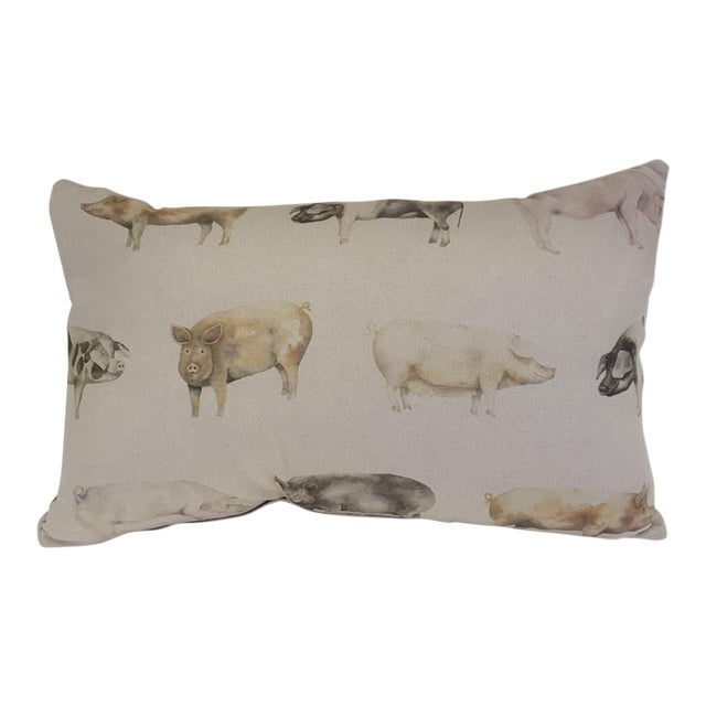 Pig Bolster Pillow Made in Wales For Sale