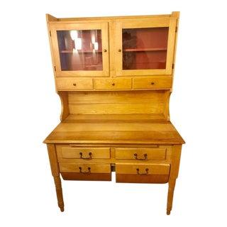 Antique Maple Possum Belly Baker's Cabinet For Sale