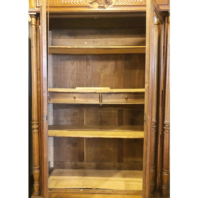 Antique French Mirrored Door Armoire For Sale - Image 4 of 5