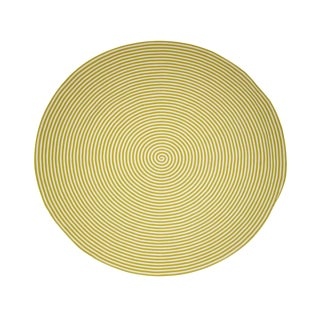 Chartreuse Green Hand Braided Round Rug