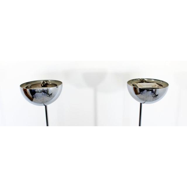 1970s Mid Century Modern Sonneman Pair of Chrome Uplight Floor Lamps 1970s For Sale - Image 5 of 7