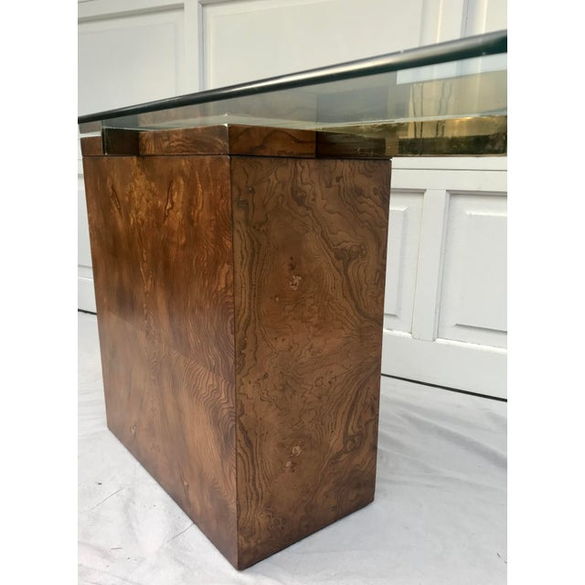 Vintage Lane Burl Wood Console Table For Sale In Los Angeles - Image 6 of 12