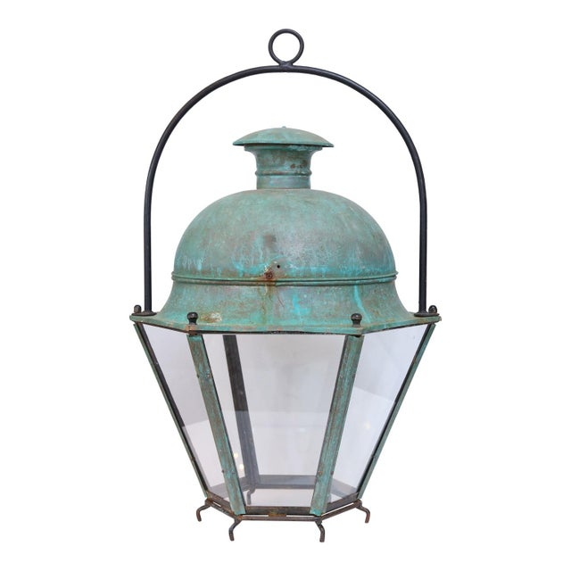 Copper Large Early 20th Century Avignon Lantern For Sale - Image 7 of 7
