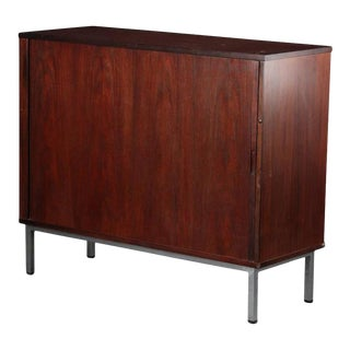 Danish Rosewood and Steel Cabinet, 1960s For Sale