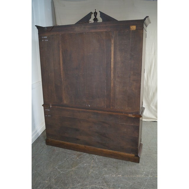Ethan Allen Georgian Court Solid Cherry Chippendale Style Breakfront - Image 4 of 10