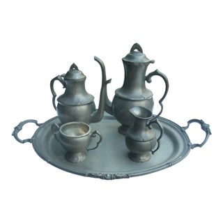 Pewter Tea & Coffee Service For Sale