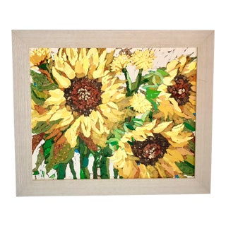 Sunflower Field II Collage For Sale