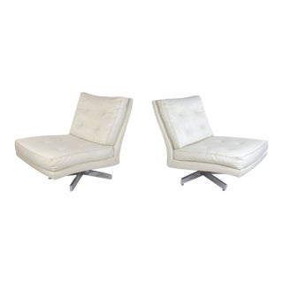 Milo Baughman Swivel Lounge Chairs for Thayer Coggin For Sale