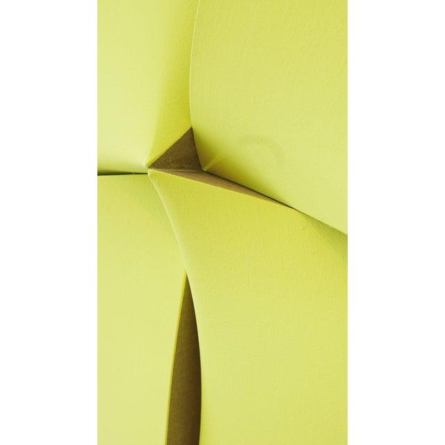 "Yellow Jan Maarten Voskuil ""Non-Fit Broken Light Yellow"" Acrylics on Linen, 2017 For Sale - Image 8 of 10"