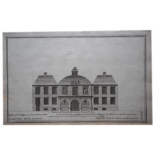 Antique Engraving Facade Lg. Folio For Sale