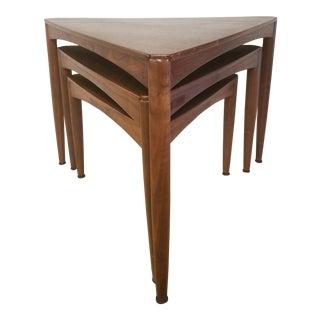 1960s Danish Moderen Dux Nesting Tables - Set of 3 For Sale