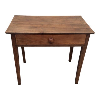 Fruitwood Side Table With Drawer For Sale