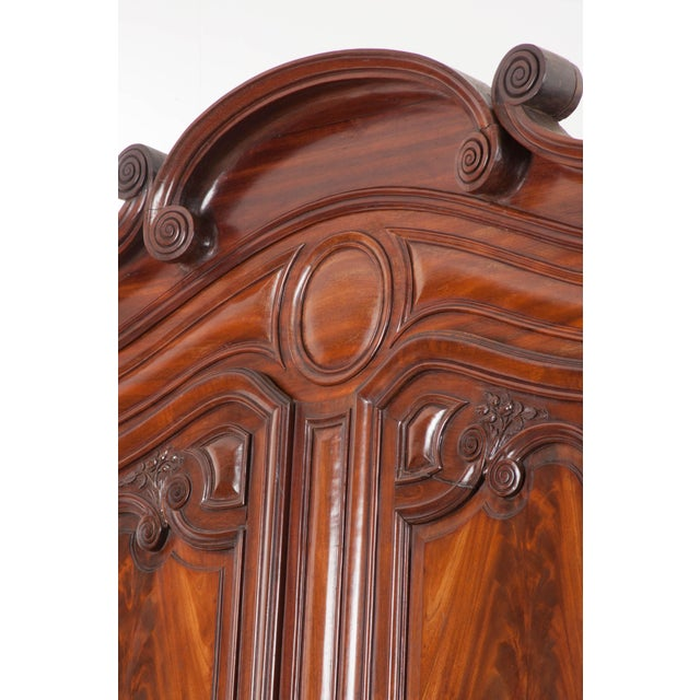 18th Century French Mahogany Armoire from the Port of Normandy For Sale - Image 10 of 13