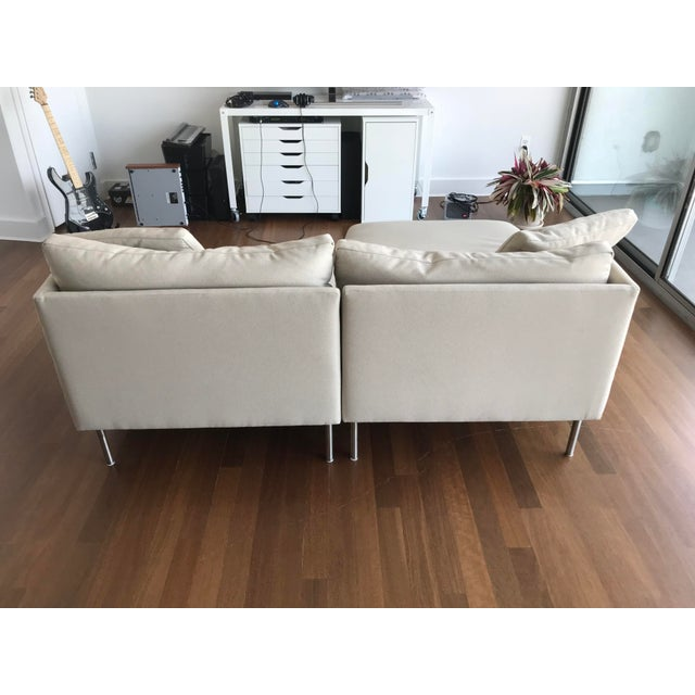 Fabric Modern Design Within Reach Camber Compact Sectional Sofa For Sale - Image 7 of 12