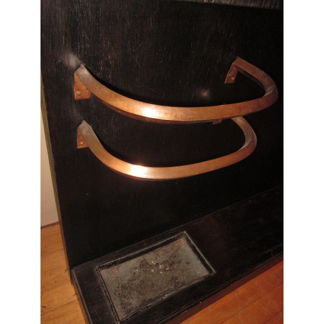 French Art Deco Cerused Oak Coat Tree with Mirror For Sale In Chicago - Image 6 of 8