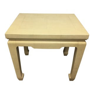 Mid-Century Lacquered Goatskin Side Table
