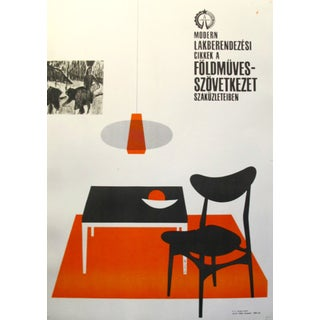 Original Hungarian Swinging 60's Furniture Poster For Sale