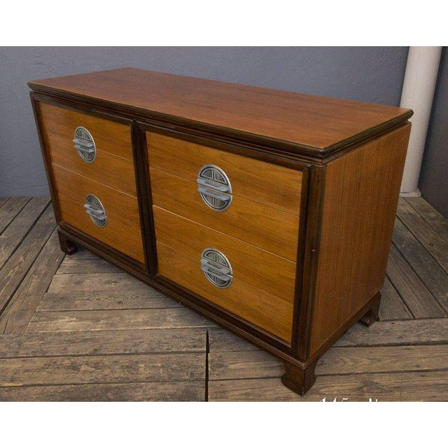 "American Midcentury ""Chinese-Modern"" Low Chest of Drawers For Sale - Image 10 of 11"